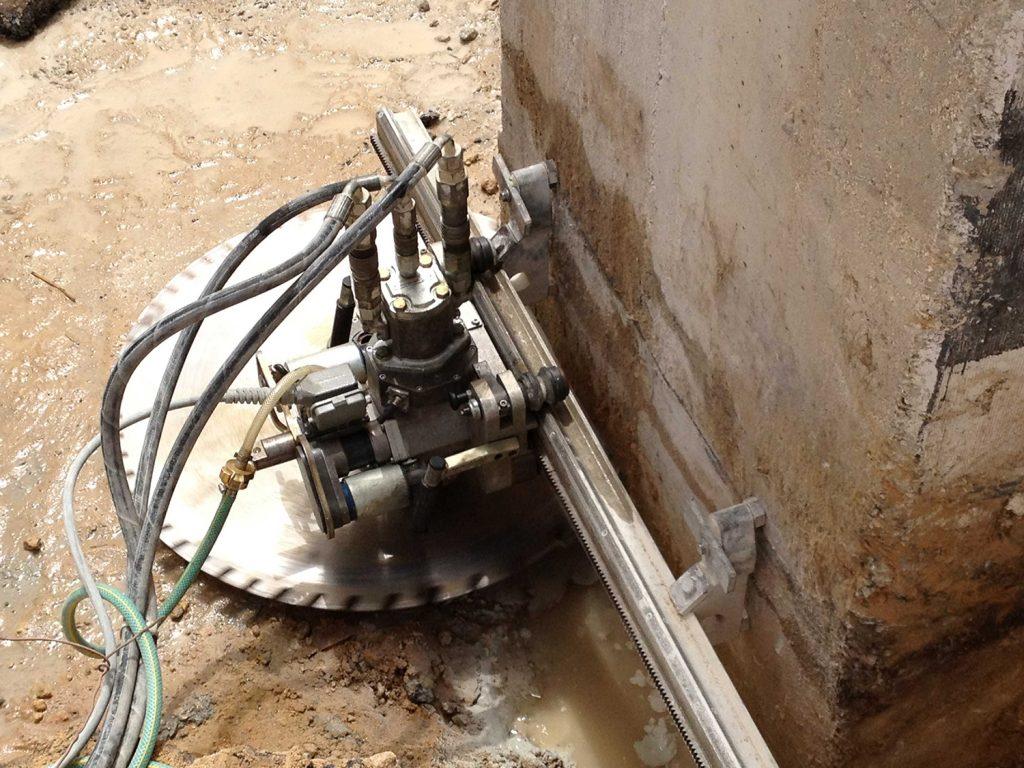 ניסור בטון טחנת קמח שטיבל